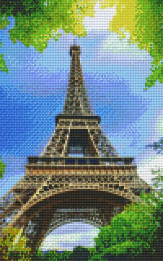 Eiffel Tower Eight [8] Baseplate PixelHobby Mini-mosaic Art Kits